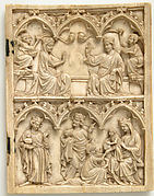 Right Wing of a Diptych with Coronation of the Virgin and Adoration of the Magi