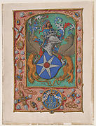 Manuscript Leaf with Coat of Arms, from a Book of Hours