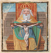 Manuscript Illumination with the Trinity, from a Book of Hours