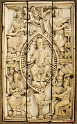 Plaque with Christ in Majesty and the Four Evangelists
