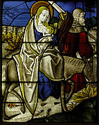 Stained Glass Panel with the Flight into Egypt
