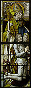 Stained Glass Panel with a Knight and His Patron Saint