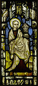 Stained Glass Panel with St. Barbara