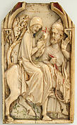 Central Leaf from a Polyptych with Flight into Egypt