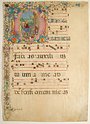 Manuscript Leaf from a Choir Book