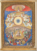 Manuscript Leaf with Adoration of the Holy Name, from a Book of Hours