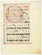 Manuscript Leaf with Initial O, from an Antiphonary