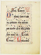 Manuscript Leaf, from an Antiphonary