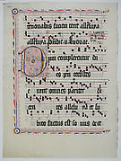 Manuscript Leaf with Initial D, from an Antiphonary