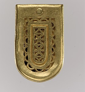 Gold Belt Buckle and Strap End