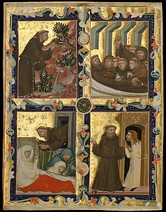 Manuscript Leaf with Scenes from the Life of Saint Francis of Assisi