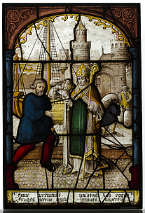 Glass Panel of Saint Nicholas