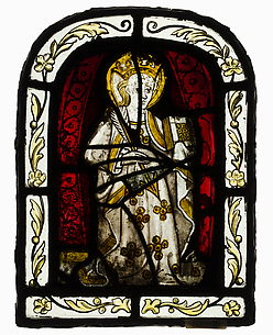 Glass Panel with Female Saint