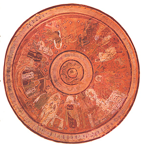 Facsimile of the Dome Painting of the Chapel of Peace, Bagawat Necropolis, Kharga Oasis
