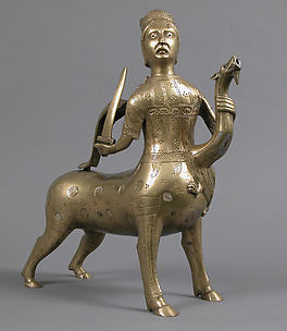 Aquamanile in the Form of a Crowned Centaur Fighting a Dragon