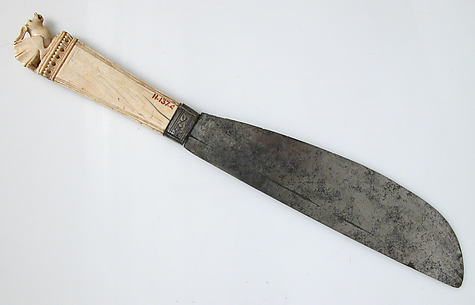 Steel Knife with Ivory Handle