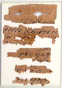 Papyri Fragments of a Letter to Epiphanius