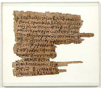 Papyri Fragments of a Letter to Andreas