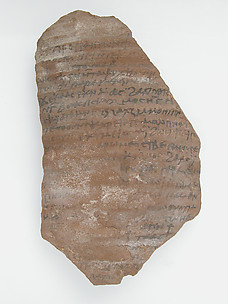 Ostrakon with a Letter from Pilatus to Peter