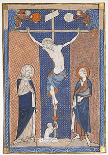 Manuscript Leaf with the Crucifixion, from a Missal