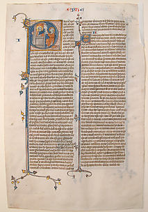 Manuscript Leaf with the Opening of the Epistle of Saint Paul to the Ephesians, from a Bible