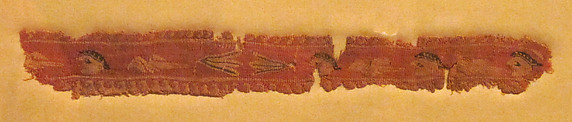 Band Fragment with Masks, Lotus Flowers, and Birds