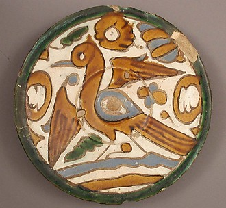Plate with Water Bird