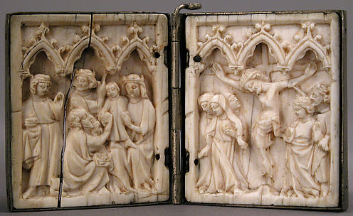 Diptych with Adoration of the Magi and Crucifixion