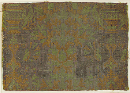 Textile with Plants and Animals