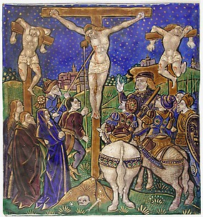 Triptych Panel with the Crucifixion