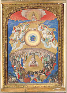Adoration of the Holy Name - Leaf from Book of Hours