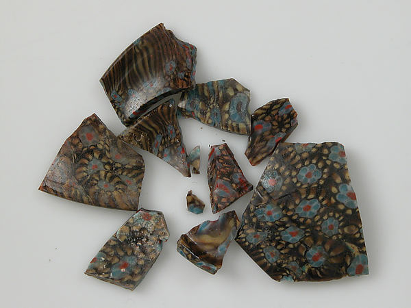 Mosaic Glass Fragments from a Vessel