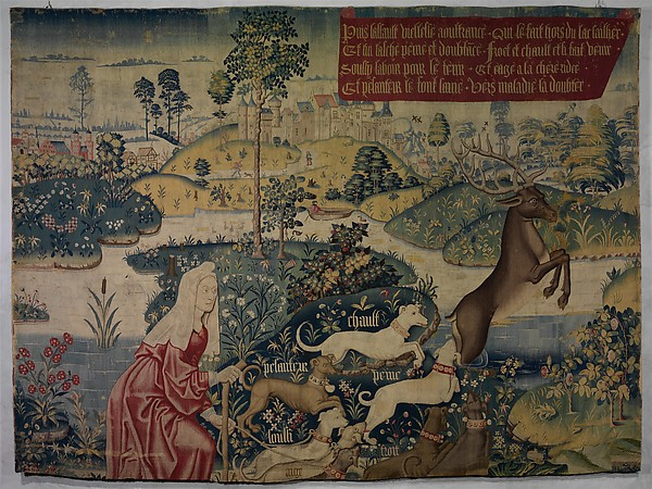 Old Age Drives the Stag out of a Lake and the Hounds Heat, Grief, Cold, Anxiety, Age, and Heaviness Pursue Him: (from The Hunt of the Frail Stag)