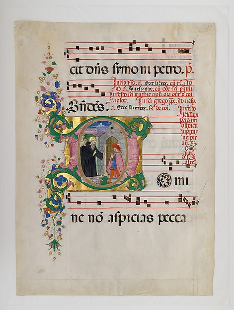 Saint Benedict Resuscitating a Boy in an Initial D