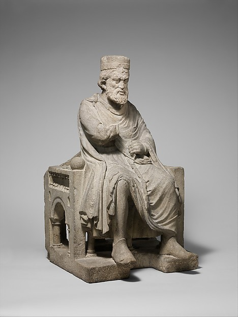 Sculpture of an Enthroned King