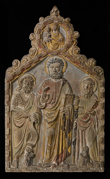 Relief Altarpiece with Saints Peter, Paul, and John the Baptist