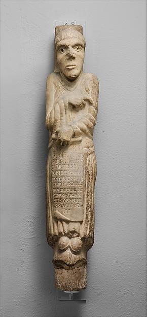Column Statue of Saint Hilary of Galeata