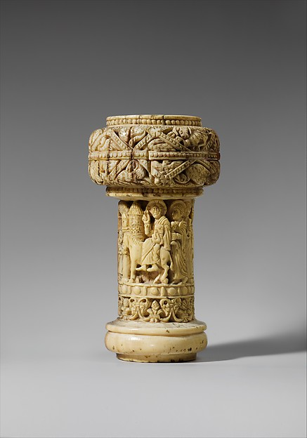Part of an Ivory Crozier with the Entry into Jerusalem
