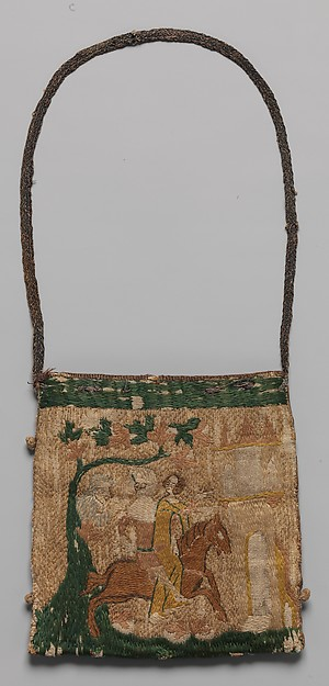 Purse with scenes from the story of Patient Griselda