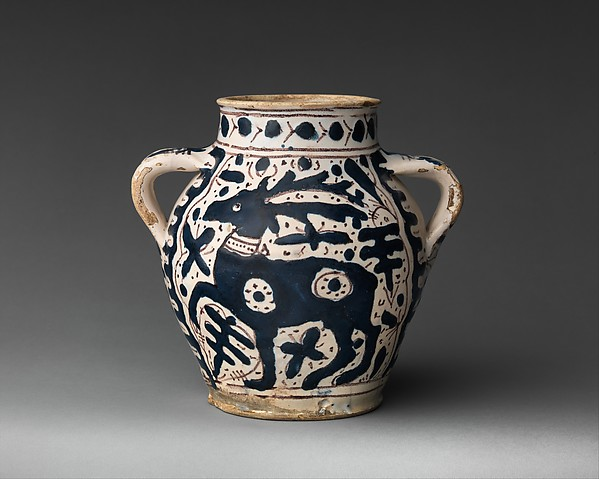 Two-Handled Jar with Stag