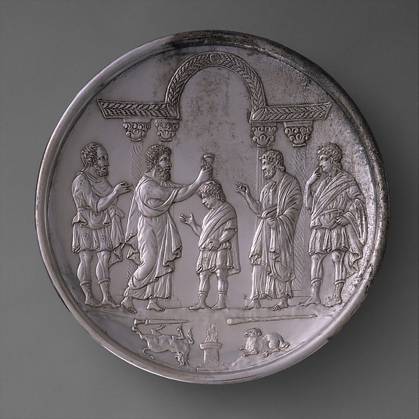 Plate with David Anointed by Samuel