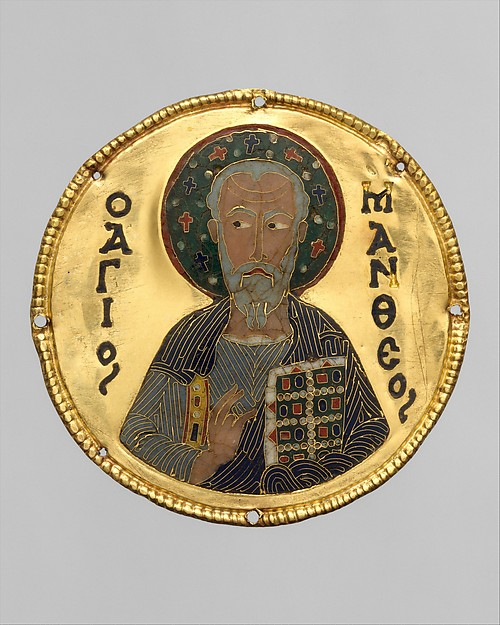 Medallion with Saint Matthew from an Icon Frame