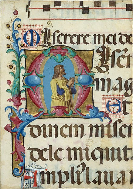 Initial M with David in Prayer