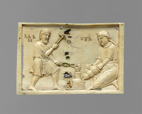Panels from an Ivory Casket with the Story of Adam and Eve