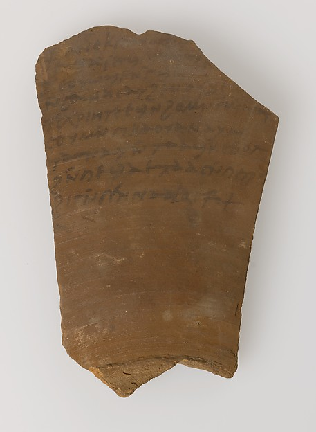 Ostrakon with a Letter from Gennadius to Peter