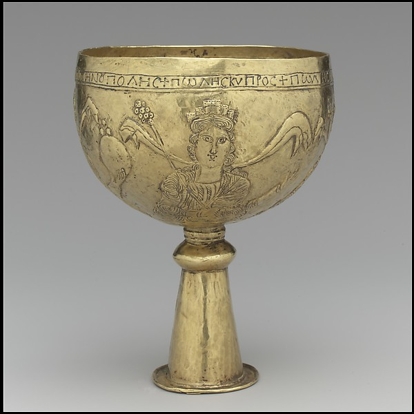 Gold Goblet with Personifications of Cyprus, Rome, Constantinople, and Alexandria