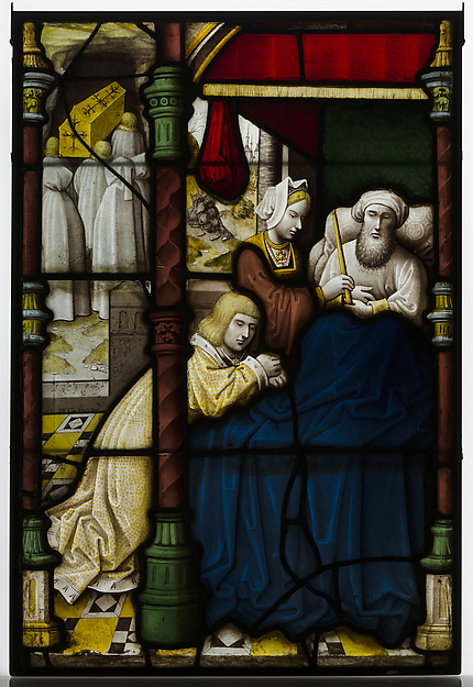 Glass Panel with Death Bed Scene