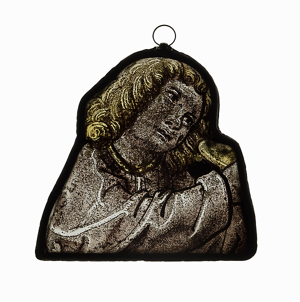 Glass Panel of Head of Angel