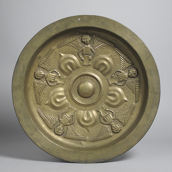 Plate with Five Angels