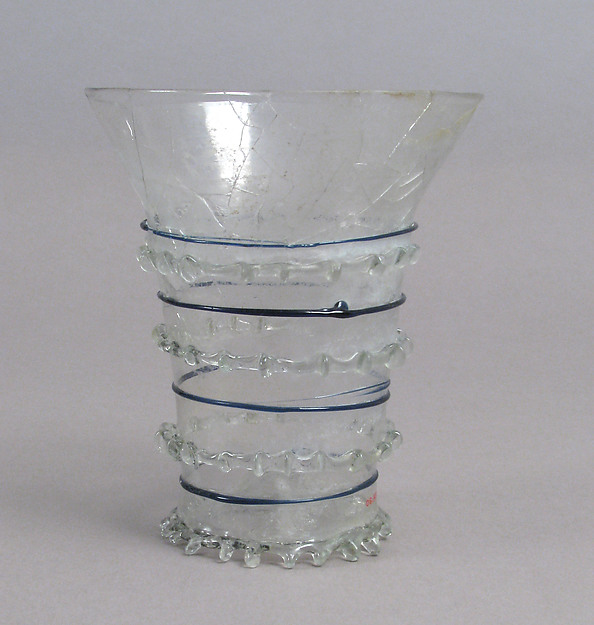 Beaker with Cobalt Trailing